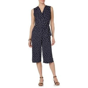 Tiana  B. Cropped Polka-dot  Wrap-front Jumpsuit